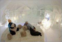 Ледяной отель на острове Хокайдо