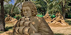 Выставка песчаных скульптур в Тель-Авиве